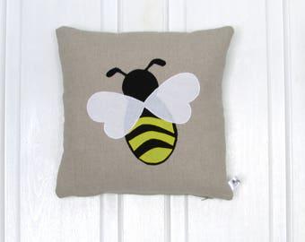 Bee Cushion, Home Decor, Cushion, Handmade, Nature, Bumble Bee,  Free Postage