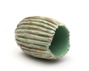 Milky Mint Pod Vase