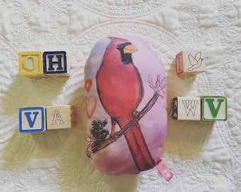 Cardinal Plush Rattle