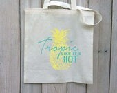 RESERVED FOR MILLIE 8 Tropic Like It's Hot Canvas Tote