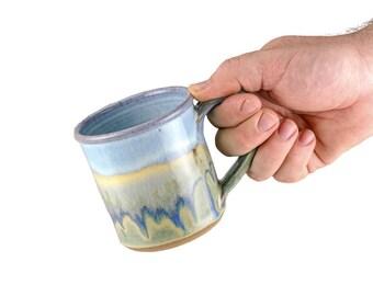Hand thrown coffee mug in Mirage Glaze- 10 oz/  SOLD INDIVIDUALLY / stoneware mug / wheel thrown mug / hand thrown mug