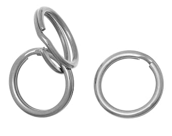 5 pcs. 304 Stainless Steel Split Rings Key Rings - 20mm (0.79 inch) - Hypoallergenic! Tarnish Resistant! - 2.8mm Thick