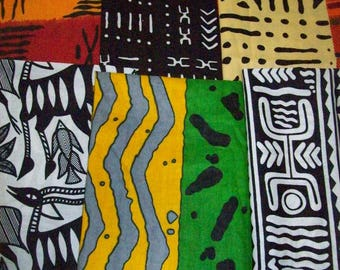 "Best Sellers African print fat quarter bundles 18""x22"" inches 6 pieces crafting/quilting/bangles, clutches/ African craft fabrics"