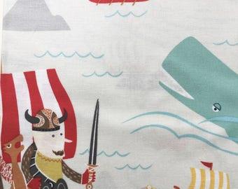 The Viking Sea Fabric by Alexander Henry, 2013, Sea Dragons and Vikings, OOP, VHTF