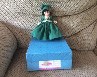 """Madame Alexander 8"""" Scarlett #400 Scarlett Jubilee II 1989 w/box, tags"""