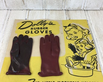 Vintage Dolls Rubber Gloves with Original Packaging