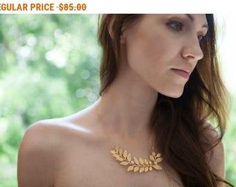 SALE - Grecian Leaf Necklace, Wedding Jewelry For Brides, Statement Wedding Necklace, Grecian, Bride Necklace, Grecian Wedding, Branch