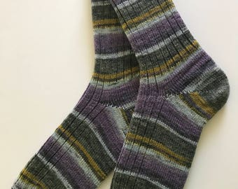 """Knitted Wool Socks , Women """"Opal Schafpate 7"""" Hand Cranked"""