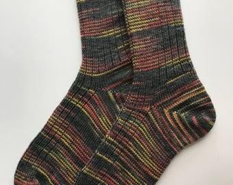 "Hand Cranked Wool Socks,  Knitted ""Opal Classics"""