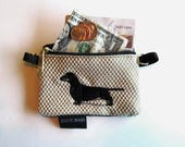 Black Dachshund Dog Coin Purse