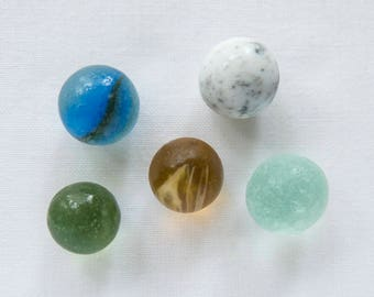 English Sea glass - Marbles/Codds - lot DC1196