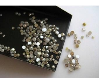 ON SALE 55% Natural Diamond, Rose Cut Diamond, Rough Diamond, Raw Diamond, Uncut Diamond, 1mm To 2mm Each, 25 Pieces
