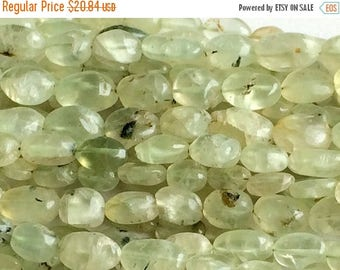 ON SALE 55% Prehnite Beads, Green Prehnite Oval Nuggets, Prehnite Oval Nuggets, Prehnite Gemstone, 11x7mm, 40 Pieces, 13 Inch Full Strand