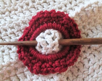 Shawl pin, crochet, hair accessory, shawl stick