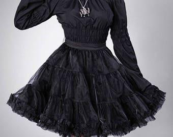 Restyle Black Organza Petticoat