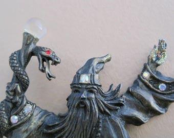 Rainbow Crystal Sorcerer Warlock Wizard Snake Pin, Magic, Costume, Gargoyle, Harry Potter, Nest & Company