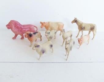 Vintage Celluloid Animals, Noah's Ark