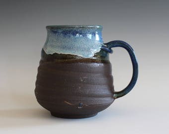 LARGE Mug, 20 oz, handmade ceramic cup, handthrown mug, stoneware mug, pottery mug, unique coffee mug, ceramics and pottery