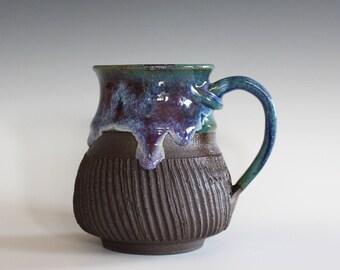 Ceramic Mug, 16 oz, handthrown ceramic mug, stoneware pottery mug, unique coffee mug