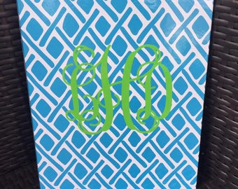 Personalized Monogrammed Turquoise MSC Portfolio Clipboard --Free Vinyl Monogramming--Fast Turnaround