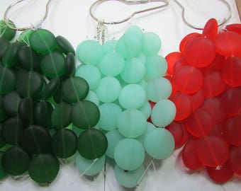 Simulated Sea Glass Rounds 20mm