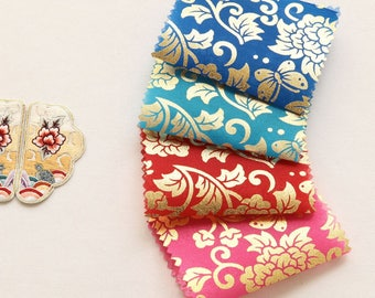 Korean Traditional Clothes Beaten Gold Sheer Hanbok Fabric By the yard (width 44 inches) 67180