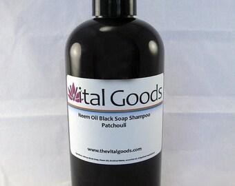ON SALE Dreadlock Shampoo Patchouli Neem oil black soap shampoo 12oz