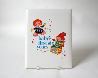 Vintage Unused 1970s Baby Book ... Baby Album for First Six Years, Golden Press Books, Great Illustrations