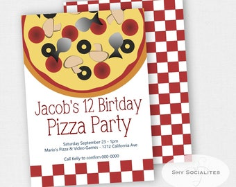 Pizza Invitation | Pizza Party | Instant Download TEMPLATE | Editable Text PDF