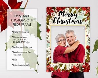 Christmas Holiday Season Yuletide Season Photo Booth Prop Frame, Social Media Christmas Prop Frame, Printable Photo Booth Picture Prop Frame