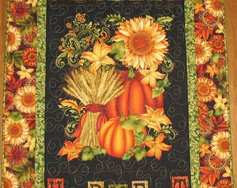 Autumn Wall Hanging , fall, pumpkins, fall leaves, fabric from Henry Glass