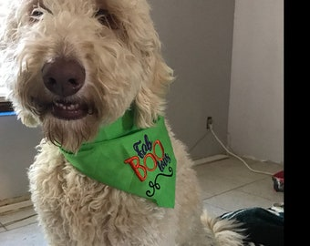 "Fab ""Boo"" lous Halloween Dog Bandana"