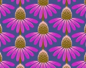Anna Maria Horner Fabric, Floral Retrospective, ECHINACEA HAUTE, Shabby Chic, Floral Fabric, Cotton Fabric, Quilt, Purple Fabric By the Yard