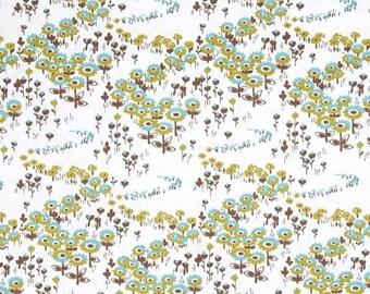 SALE 10% Off - Flower Fields in Timber  JD34 - Joel Dewberry - Modern Meadow - Free Spirit Fabric  - By the Yard