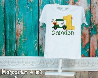Golf birthday shirt - 1st Birthday golf Shirt - Golf cart - Masters - Tee