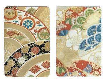 ASIAN MOTIF (2) Single Swap Playing Cards Paper Ephemera Scrapbook