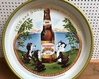 1959 Stegmaier Beer Advertising Tray Pennsylvania