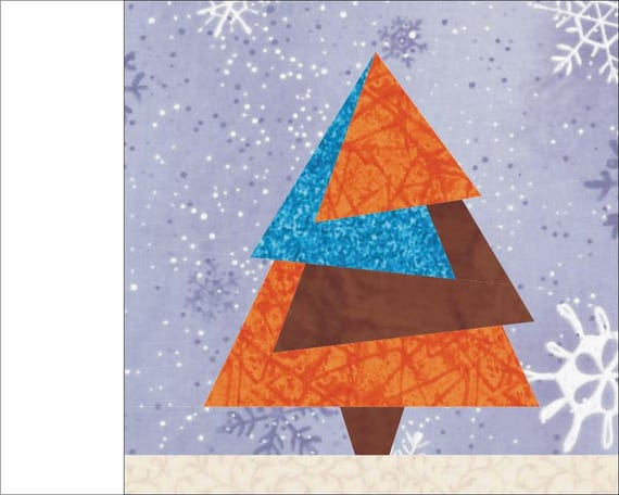 Christmas Tree 2 Paper Pieced Quilt Block PDF Pattern