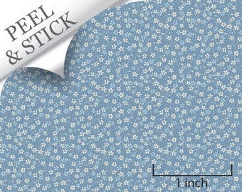 Quarter Scale Wallpaper-Peel and Stick-Daisy, Dk Blue