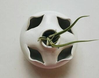 Small Handmade Ceramic Bud Vase Air Plant Holder - Hand Thrown Pottery - Modern Farmhouse Decor