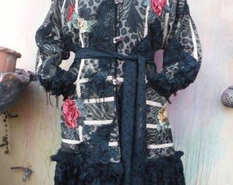 20%OFF extra large jacket, bohemian jacket, fur jacket, gypsy jacket, shabby jacket, heavy jacket, warm coat, bohemian coat, mori , winter c