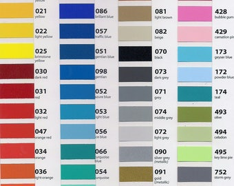 Oracal 631 vinyl  --  8 --  12x12 in. sheets     90 colors available