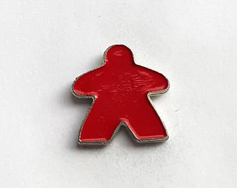 Hand Cast Meeple Pewter Lapel Pin