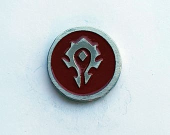 Hand Cast WOW Horde Lapel Pin