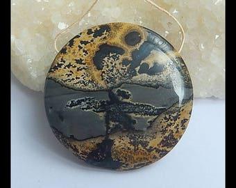 New,AAA Chohua Jasper Gemstone  Round Pendant Bead,43x9mm,23.9g(g0741)