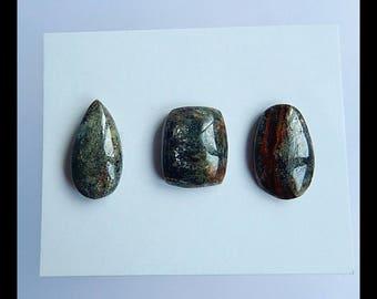 SALE,3 PCS Green Kyanite Gemstone Cabochons,10.05g(Cb011)