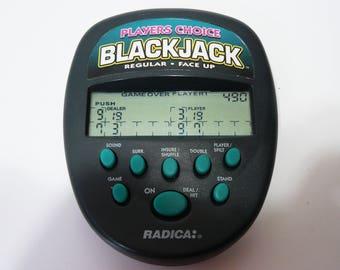 Radica Pocket Players Choice Blackjack LCD Handheld Electronic Game Black Jack