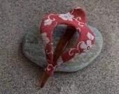 Vintage Silk Kimono Ladies French Hair Clip