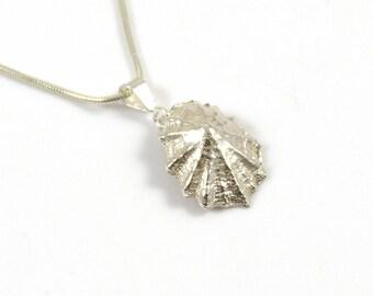 Sterling Silver Cast Limpet Shell Pendant Necklace, Beach Necklace, Silver Shell Necklace, 925 Silver Necklace, The Strandline,