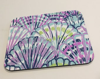 Lilly Pulitzer Fabric Mouse Pad Serene Blue Oh Shell O